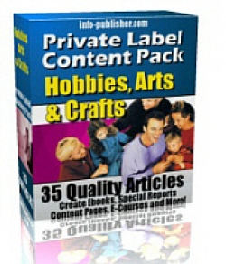 Private Label Article Pack : Hobbies, Arts & Crafts