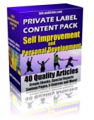 Private Label Article Pack : Self Improvement Articles Private Label Rights
