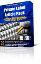 Private Label Article Pack : Ezine Marketing Articles Private Label Rights
