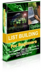 Opt-in List Building For Beginners Private Label Rights