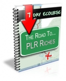 7 Day Ecourse : The Road To PLR Riches Private Label Rights