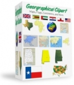 Geographical Clipart Private Label Rights