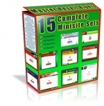 15 Complete Minisite Sets Private Label Rights