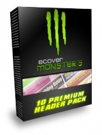 eCover Monsters 10 Premium Header Pack Private Label Rights