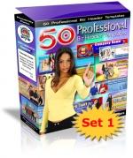 50 Professional Biz Header Templates : Set 1 Private Label Rights