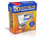 20 Hot Niche Header Graphics V2 Private Label Rights