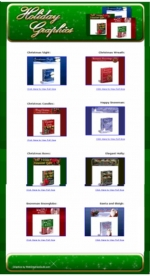 12 Matching Sets Of Christmas Holiday Graphics Private Label Rights