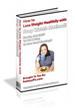 How to Lose Weight Healthy with Stop Watch Method! Private Label Rights