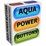 Aqua Power Buttons Private Label Rights