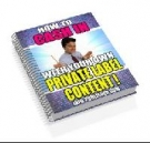 How To Cash In With Your Own Private Label Content! Private Label Rights