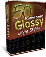 50 Glossy Layer Styles Private Label Rights