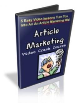 Article Marketing Video Crash Course