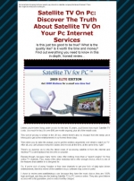 Satellite TV On PC Private Label Rights