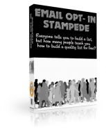 Email Opt-In Stampede Private Label Rights