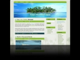 Palm Tree Island WP Theme Private Label Rights