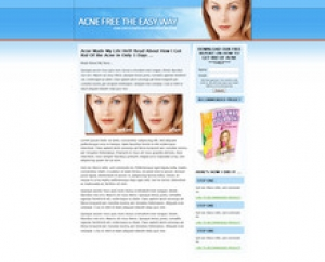 Acne Landing Page Template