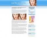 Acne Landing Page Template Private Label Rights