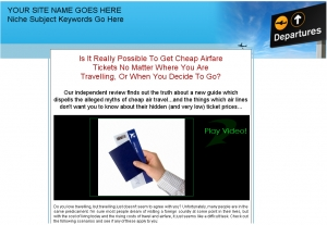My Airfare Secrets! Presell Templates