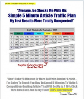 Simple 5 Minute Article Traffic Plan