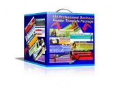 125 Professional Business Header Template Package Private Label Rights