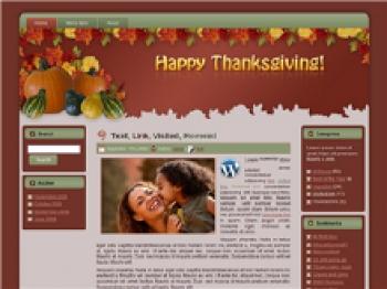 Thanksgiving - Fall WP Theme