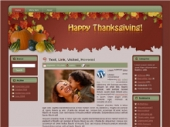 Thanksgiving - Fall WP Theme Private Label Rights