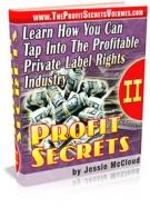 Profit Secrets II Private Label Rights