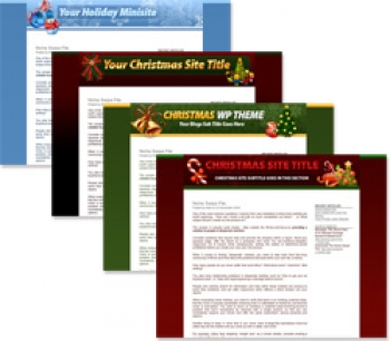 Christmas Themed Minisites and Wordpress Themes