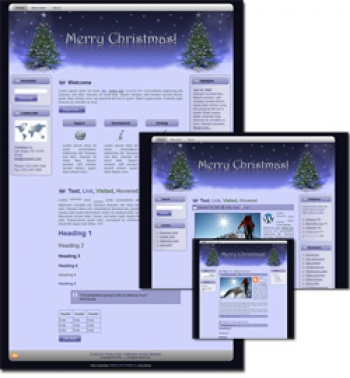 Christmas Wordpress, Blogger and HTML Templates