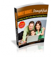 Family Budget Demystified Private Label Rights