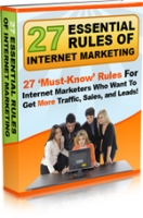 27 Essential Rules of Internet Marketing Private Label Rights