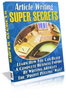 Article Writing Super Secrets Private Label Rights