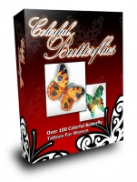 Colorful Butterflies Private Label Rights