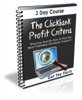 The Clickbank Profit Criteria Private Label Rights