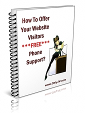 How To Offer Your Website Visitors FREE Phone Support! Private Label Rights