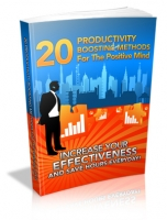 20 Productivity Boosting Methods For The Positive Mind Private Label Rights