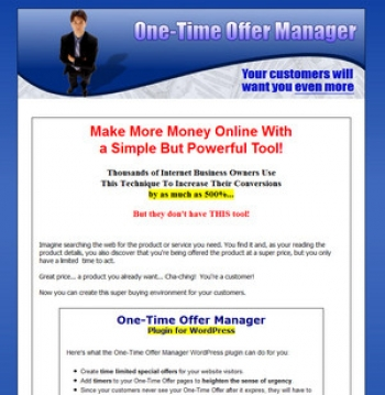 One-Time Offer Manager Plugin For WordPress