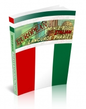European Mini E-Book Italian Language Phrases Private Label Rights