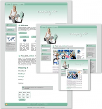 Keeping Fit Themed Wordpress, Blogger and HTML Templates 3