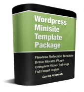 Wordpress Minisite Template Package Private Label Rights