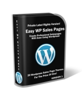 Easy Wordpress Sales Pages Private Label Rights