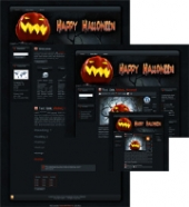 Halloween Pumpkin WP Theme Private Label Rights