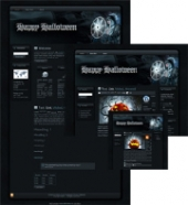 Halloween Sorceress WP Theme Private Label Rights