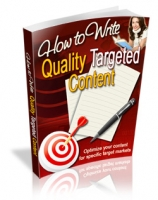 How To Write Quality Targeted Content Private Label Rights