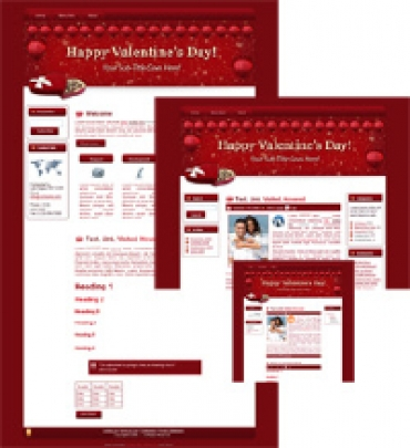 Hearts-N-Chocs - WP Theme