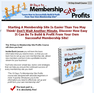 10 Days To Membership Site Profits