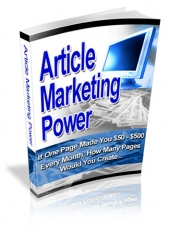 Article Marketing Power Private Label Rights