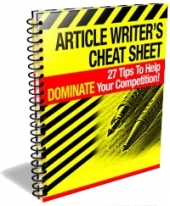 Article Writer's Cheat Sheet Private Label Rights