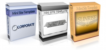 3 PLR Mini-Site Templates