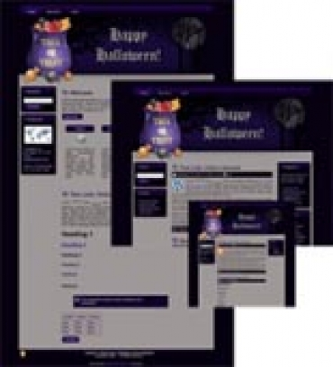 Halloween Site Template 3